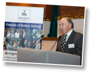 Malcolm Stevens, President of the Old Boys Association speaking at the launch of Friends of Bolton School